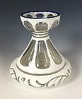 Victorian Bohemian Overlay Glass Hyacinth Bulb Vase