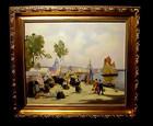 Henri-Alphonse Barnoin Concarneau Market Oil Canvas